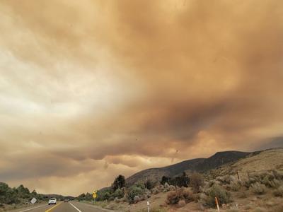 Caldor Fire smoke pic