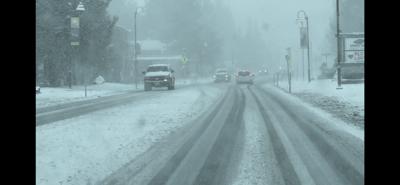 snow road image