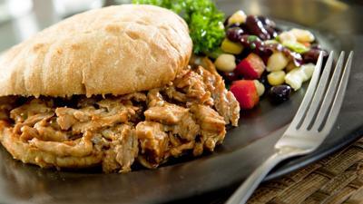 Pulled turkey sandwich