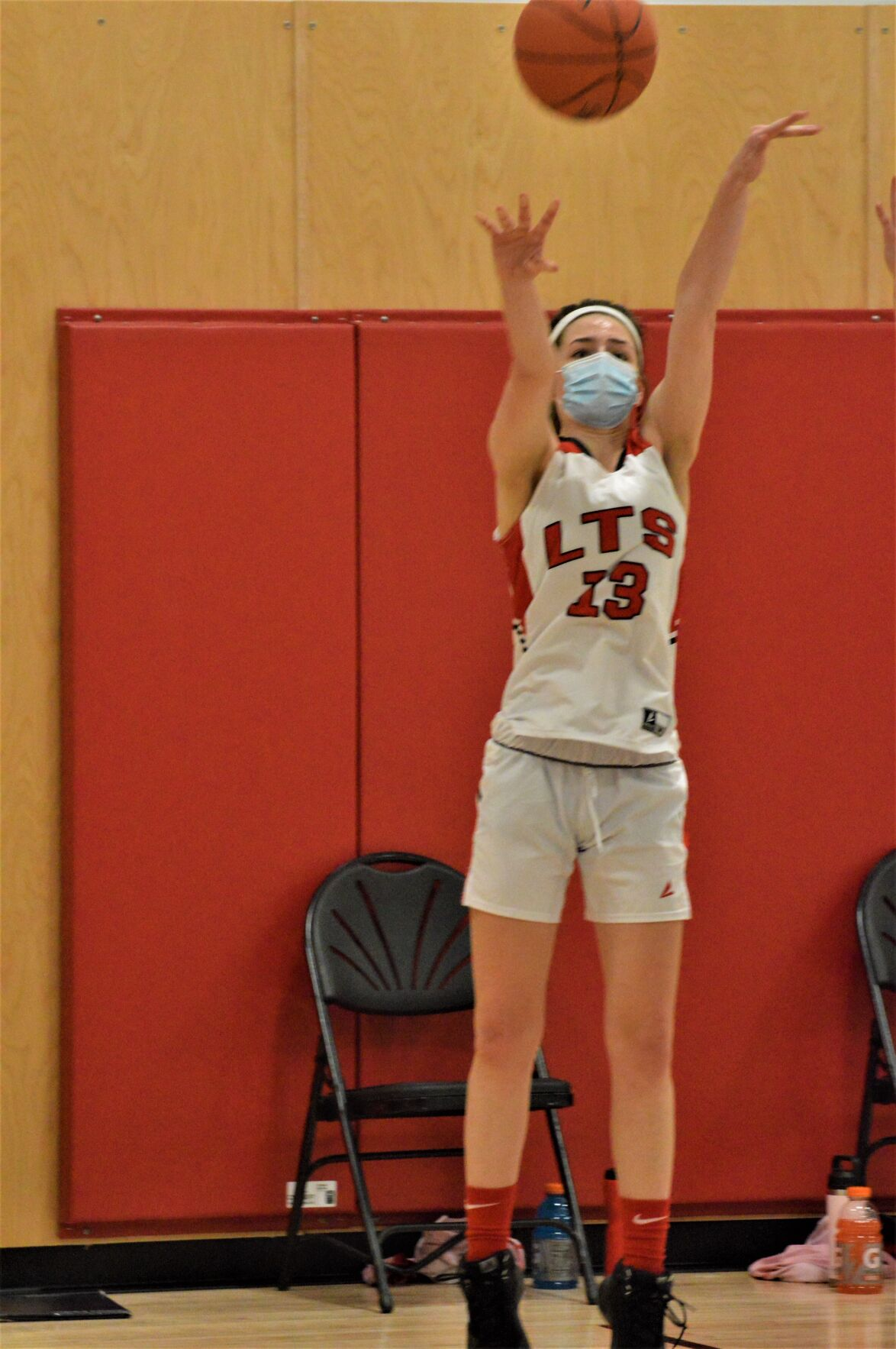Molly Sanderson shoots a 3-pointer for Long Trail School