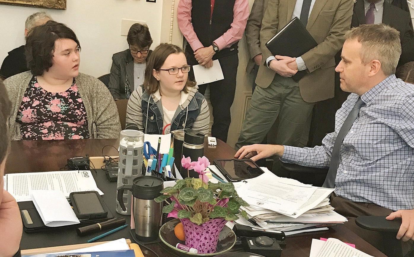 BBA, MEMS students testify in favor of bag ban at Vermont Statehouse