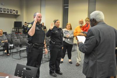 Officers Sworn in