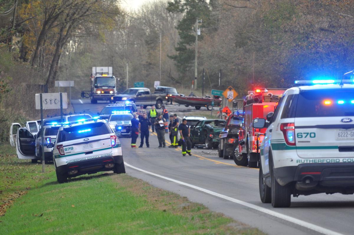 Multiple vehicles collided on Murfreesboro Highway