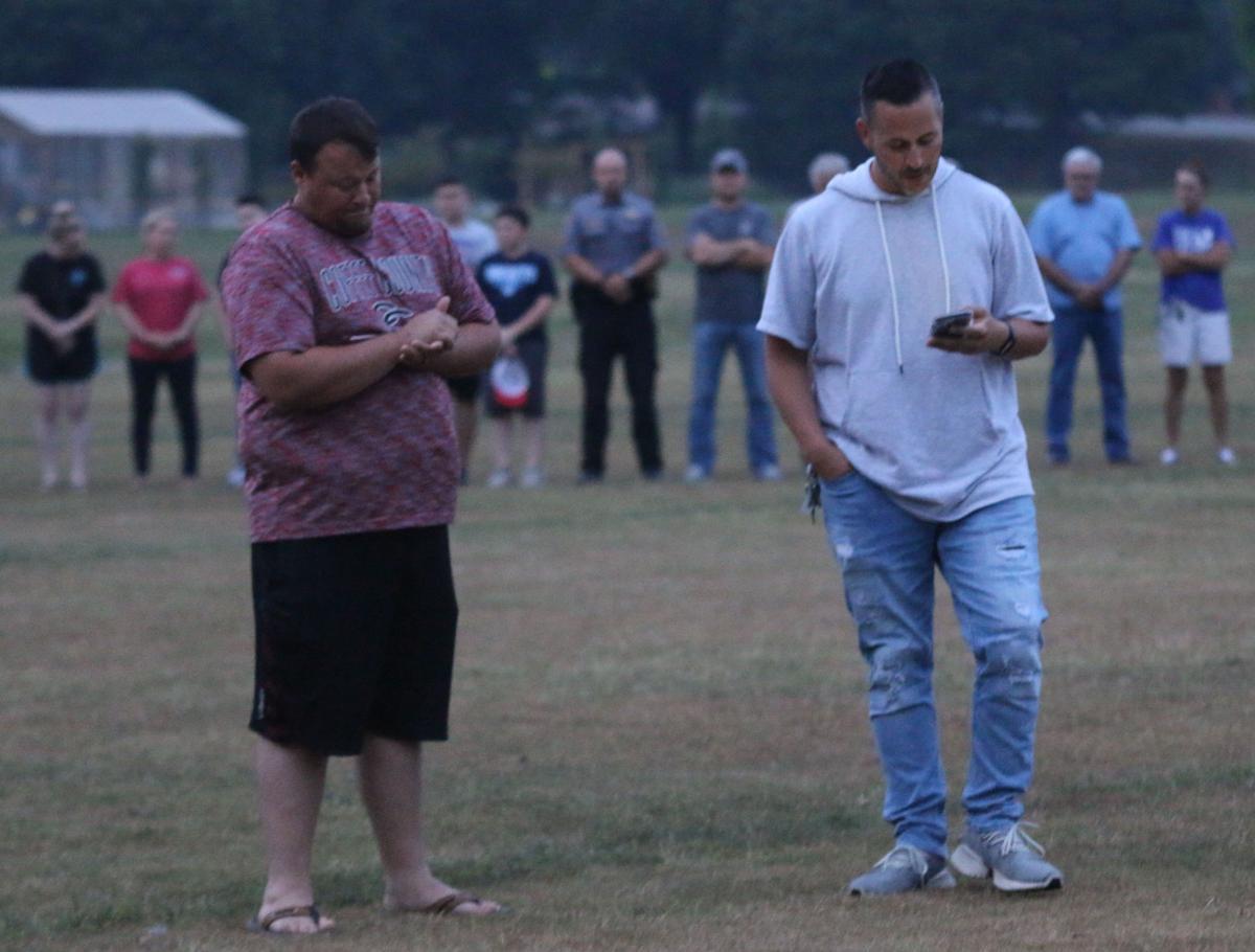 Pastor leads the vigil