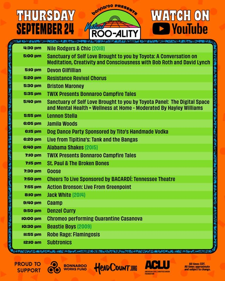 Virtual ROO-ALITY schedule released