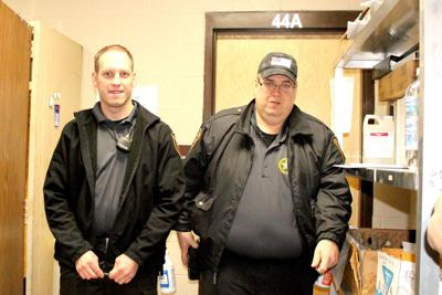 Corrections Officers Josh Folven (left) and Chris Wilson