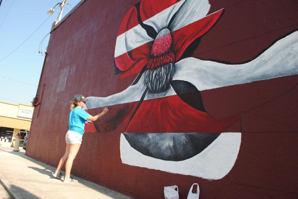 Mural (being painted)