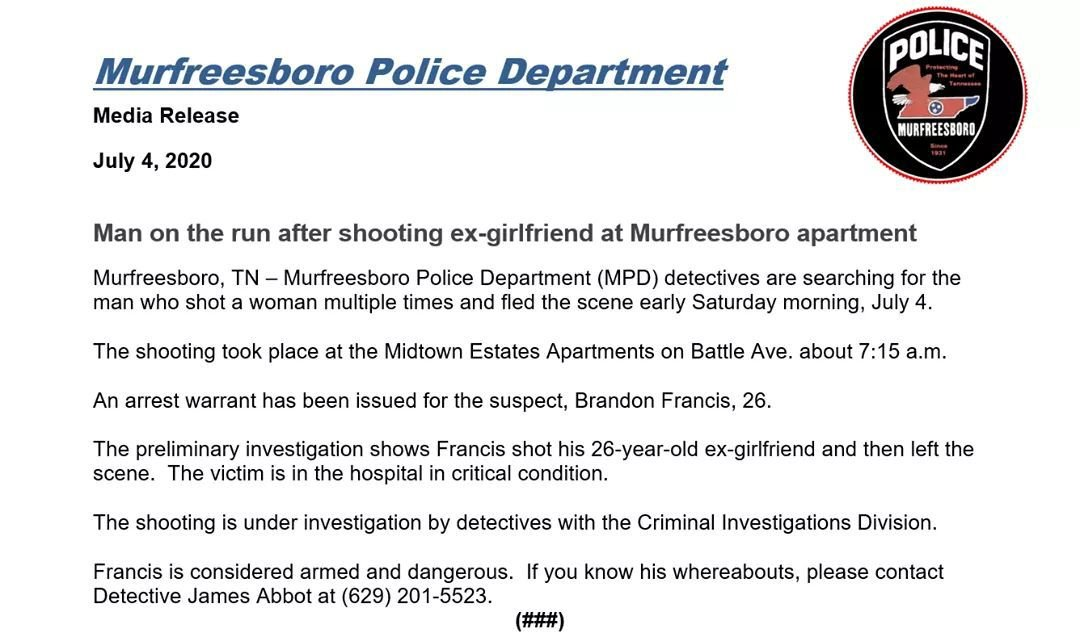 Alleged shooter on the run