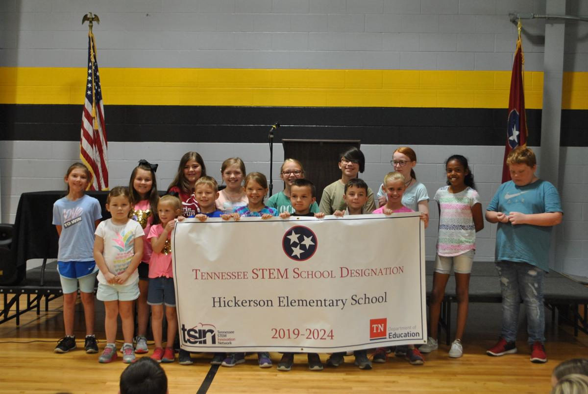 Hickerson STEM group and banner