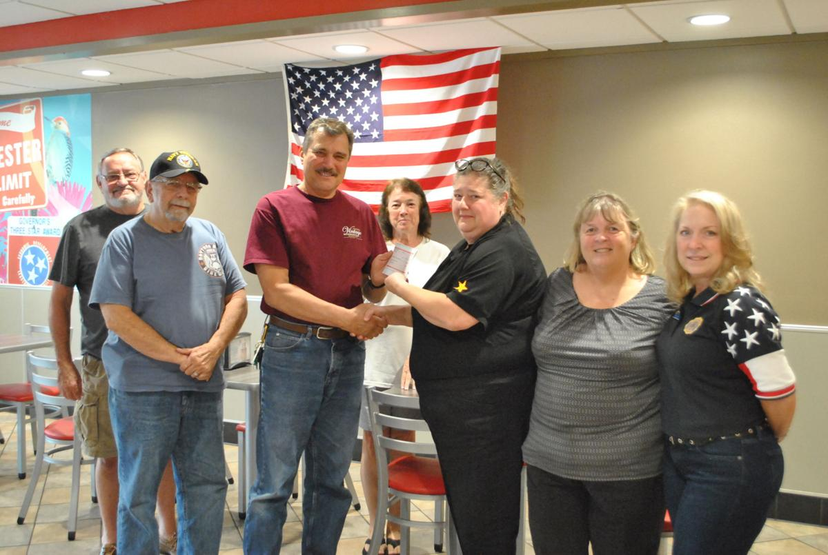 Hardees donates to American Legion