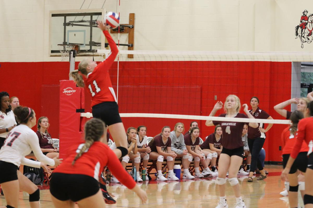 Coffee County volleyball beats Eagleville in straight sets