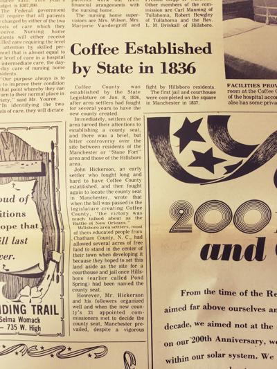 Manchester of Yesteryear: How Coffee County was established