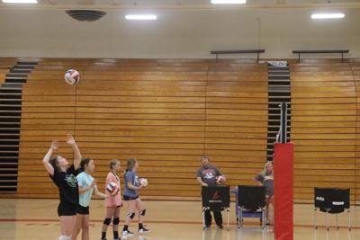 Volleyball tryouts held