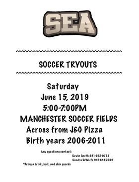 SEA Soccer tryouts