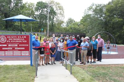 Ribbon cutting ceremony for inclusive playground held
