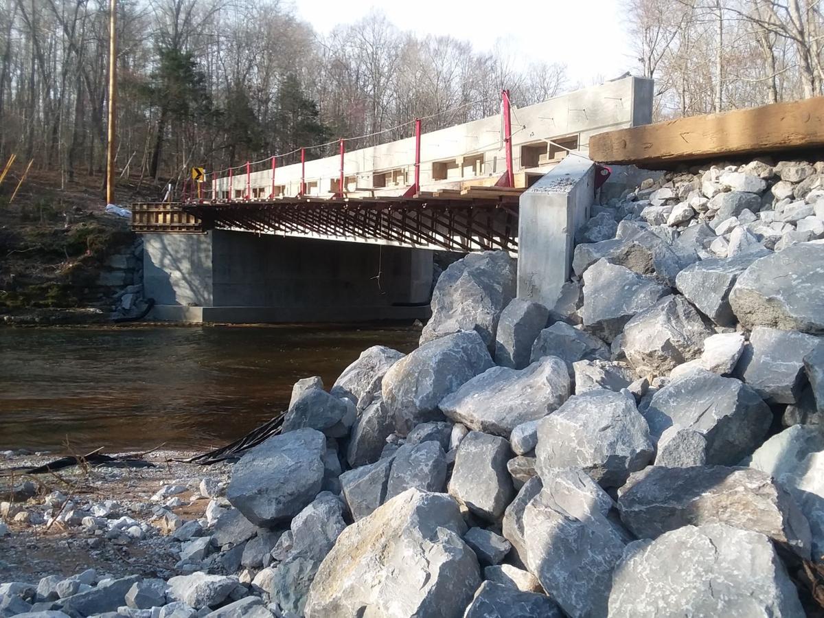 Progress of replacing Rutledge Falls Bridge