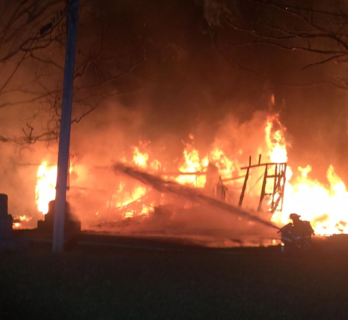 Fire destroys barn near Old Stone Fort Golf Course