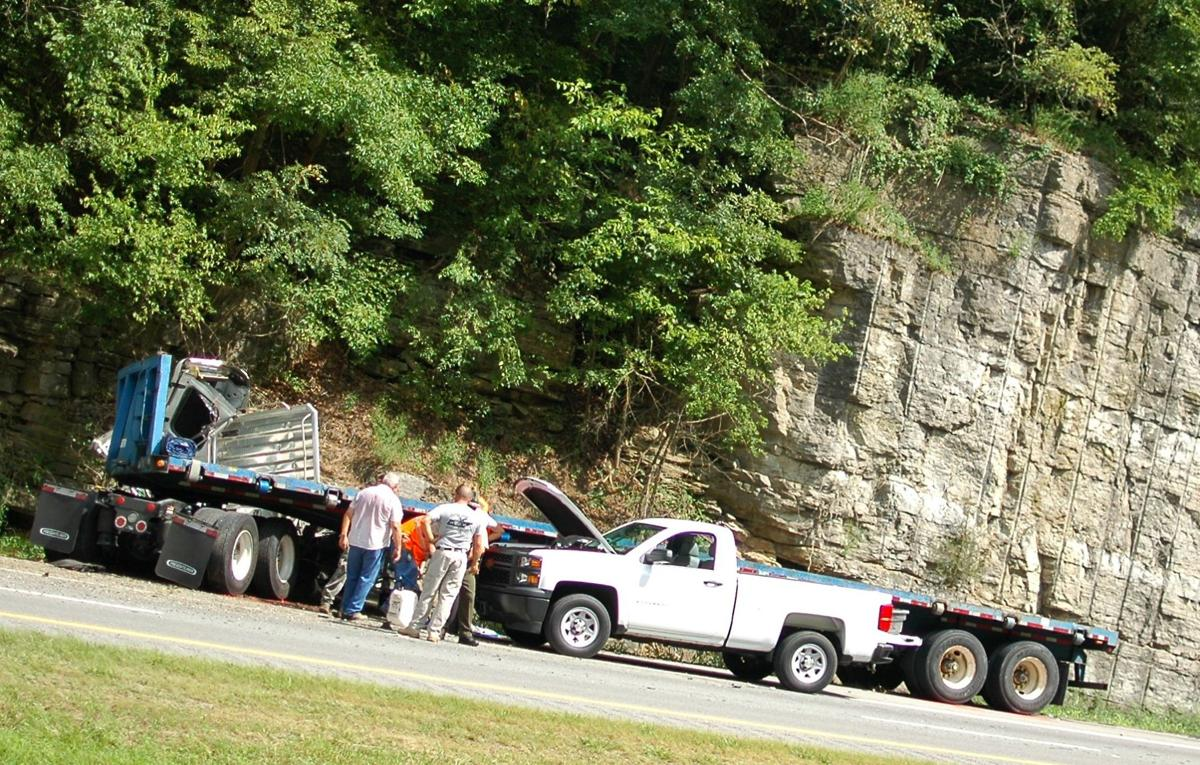 Westbound lanes of I-24 closed between 105 and 97 after two-car