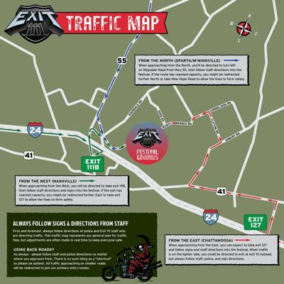 Traffic map Exit 111