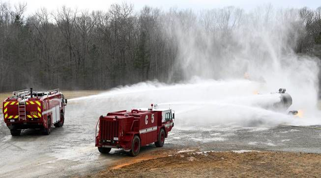 Arnold AFB Fire and Emergency Services conducts live fire training