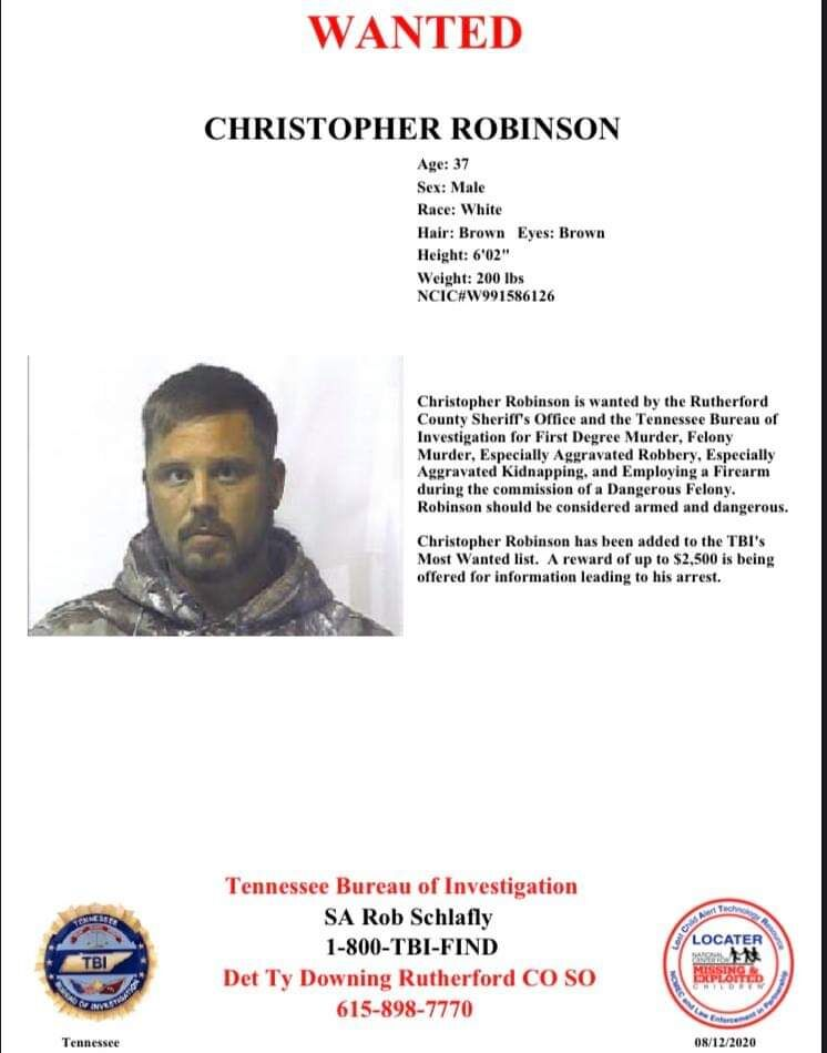 Most Wanted list addition; $2,500 reward offered