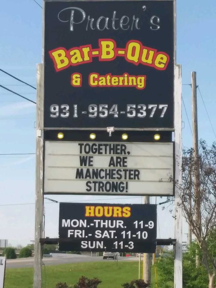Prater's continues to operate during this time.