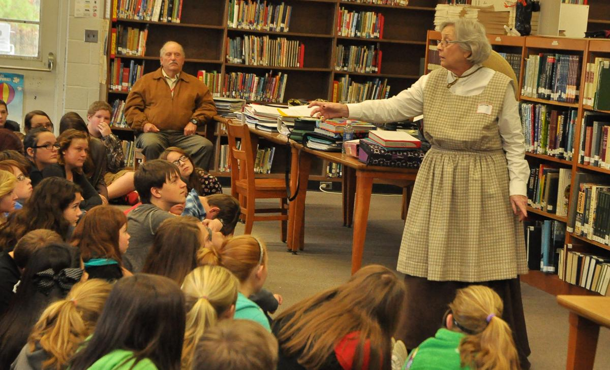Historical society offers Appalachian natural wisdom to seventh graders through portrayal of local figure