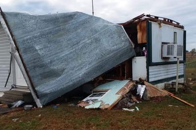 Storm damage - Gibson home