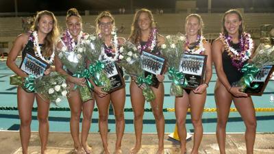 Rainbow Wahine water polo senior night