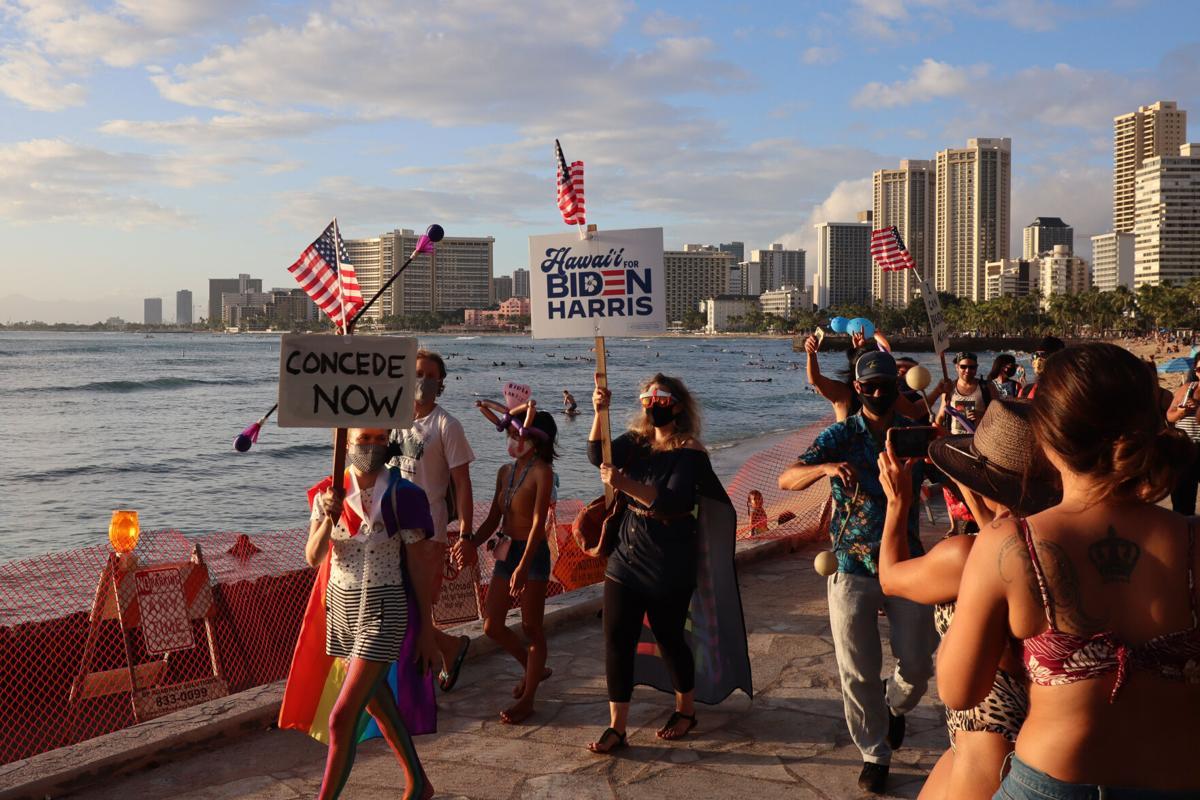 Biden Victory 2020, Honolulu, Hawai'i