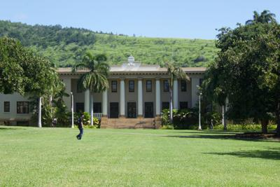 Hawaii Hall from the lawn