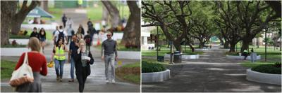 UH campus before and after COVID-19