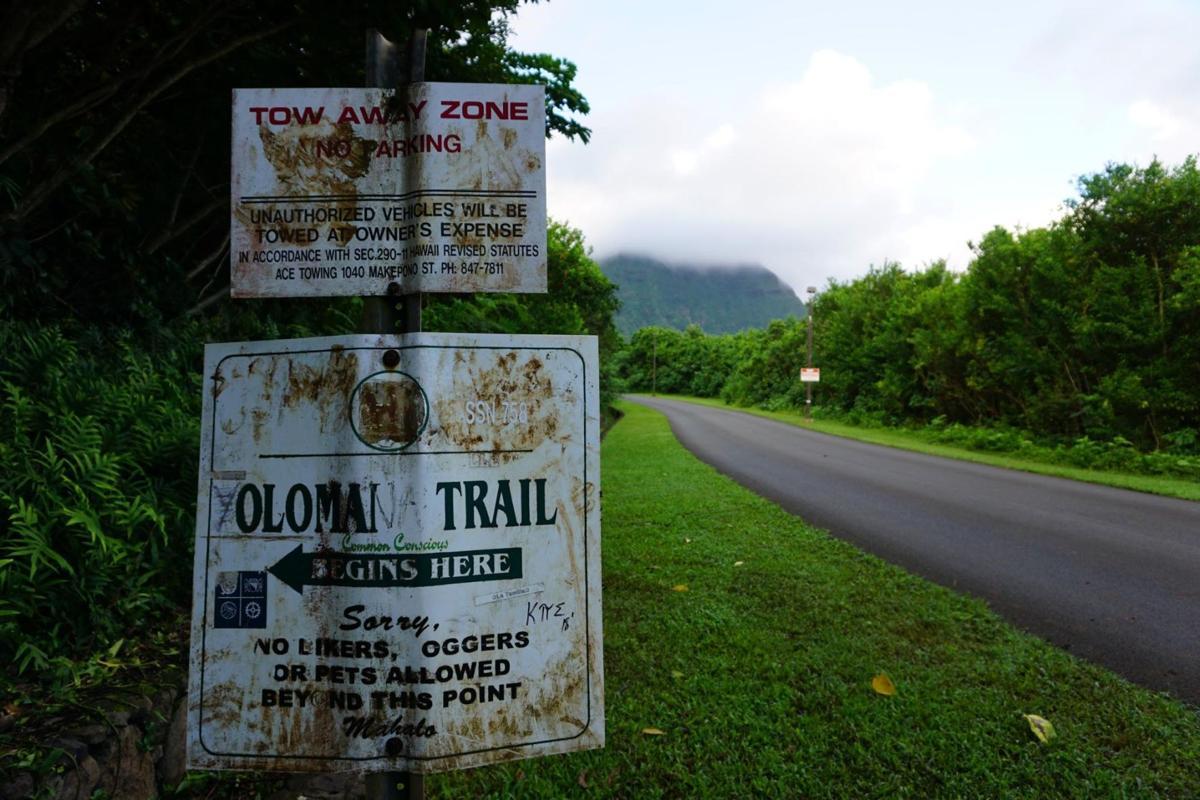 Olomana peak trail