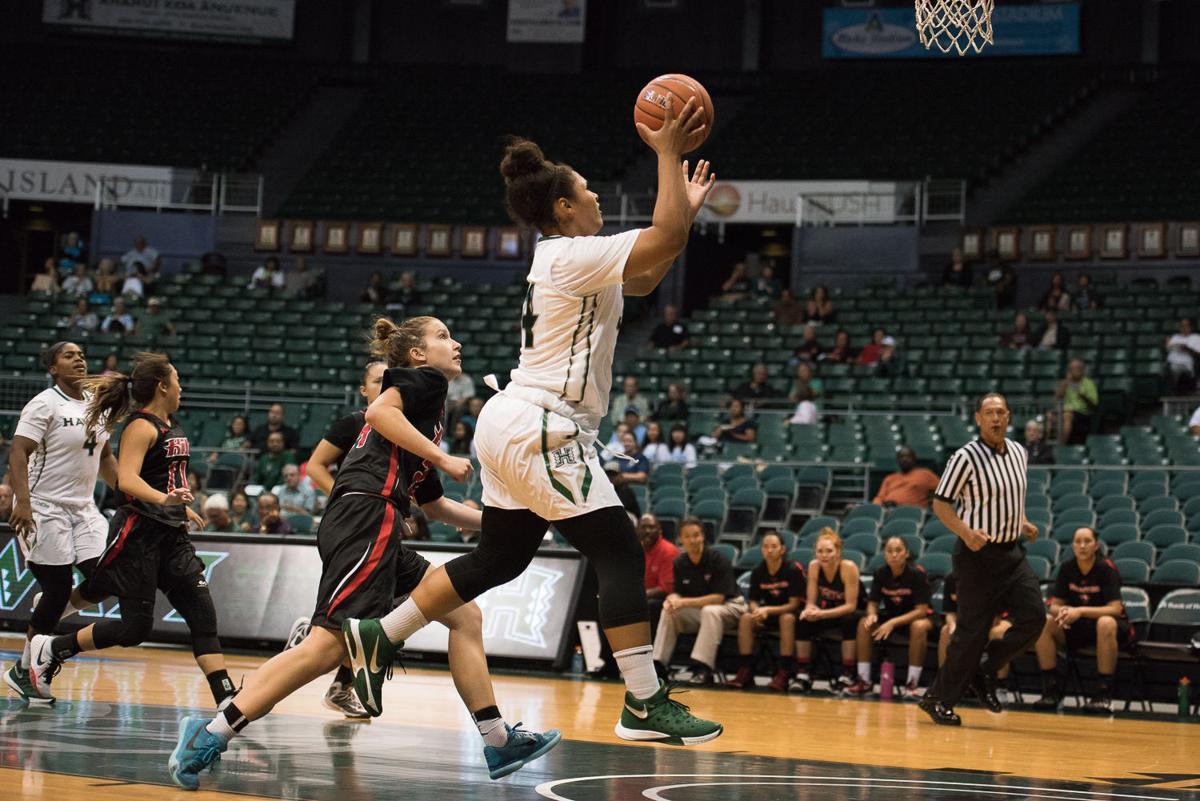Rainbow Wahine struggle against UC Davis, 64–52