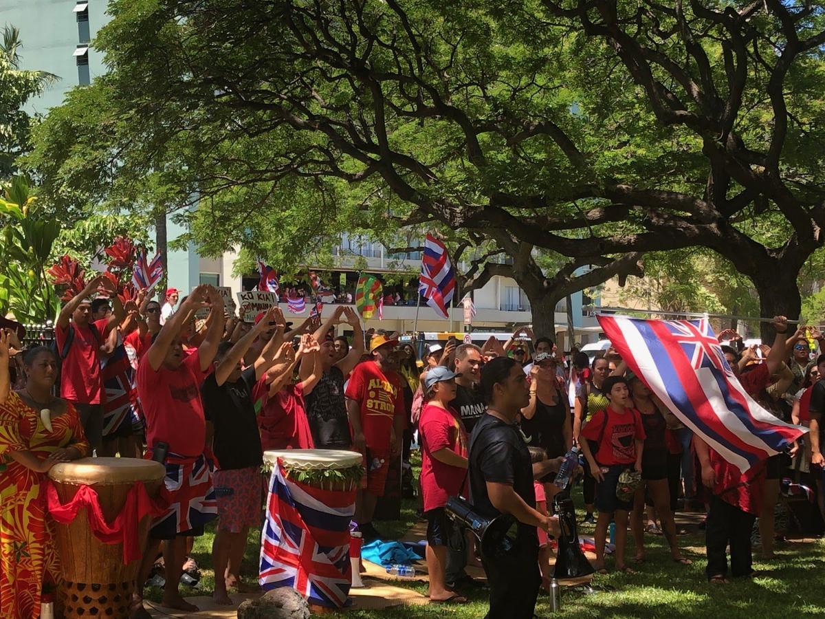 TMT Protests in Waikiki