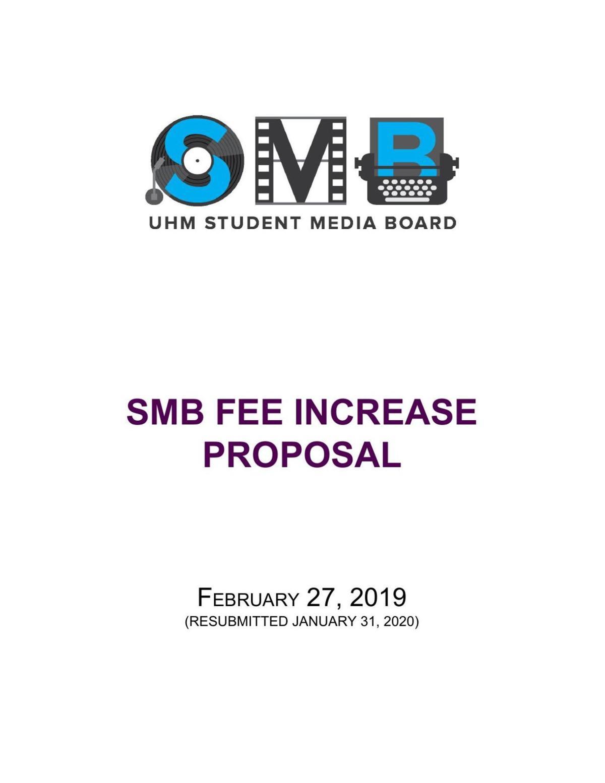 SMB Fee Increase Proposal February 2020