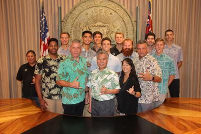Men's Volleyball and David Ige
