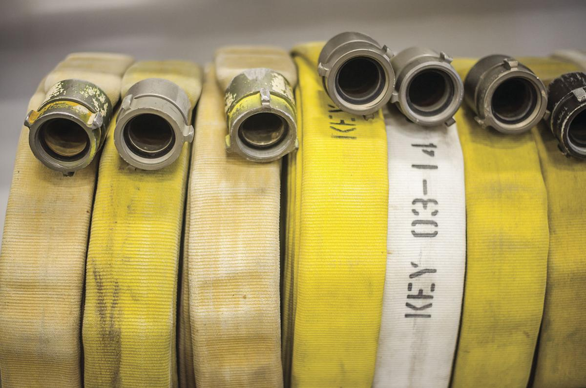 Rolls of hoses are
