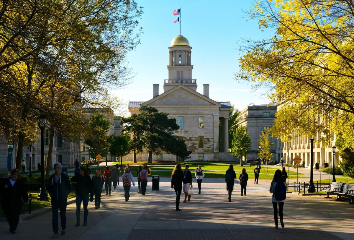 The Old Capitol is a landmark at the University of Iowa and part of the official university logo. (Photo courtesy of the University of Iowa)