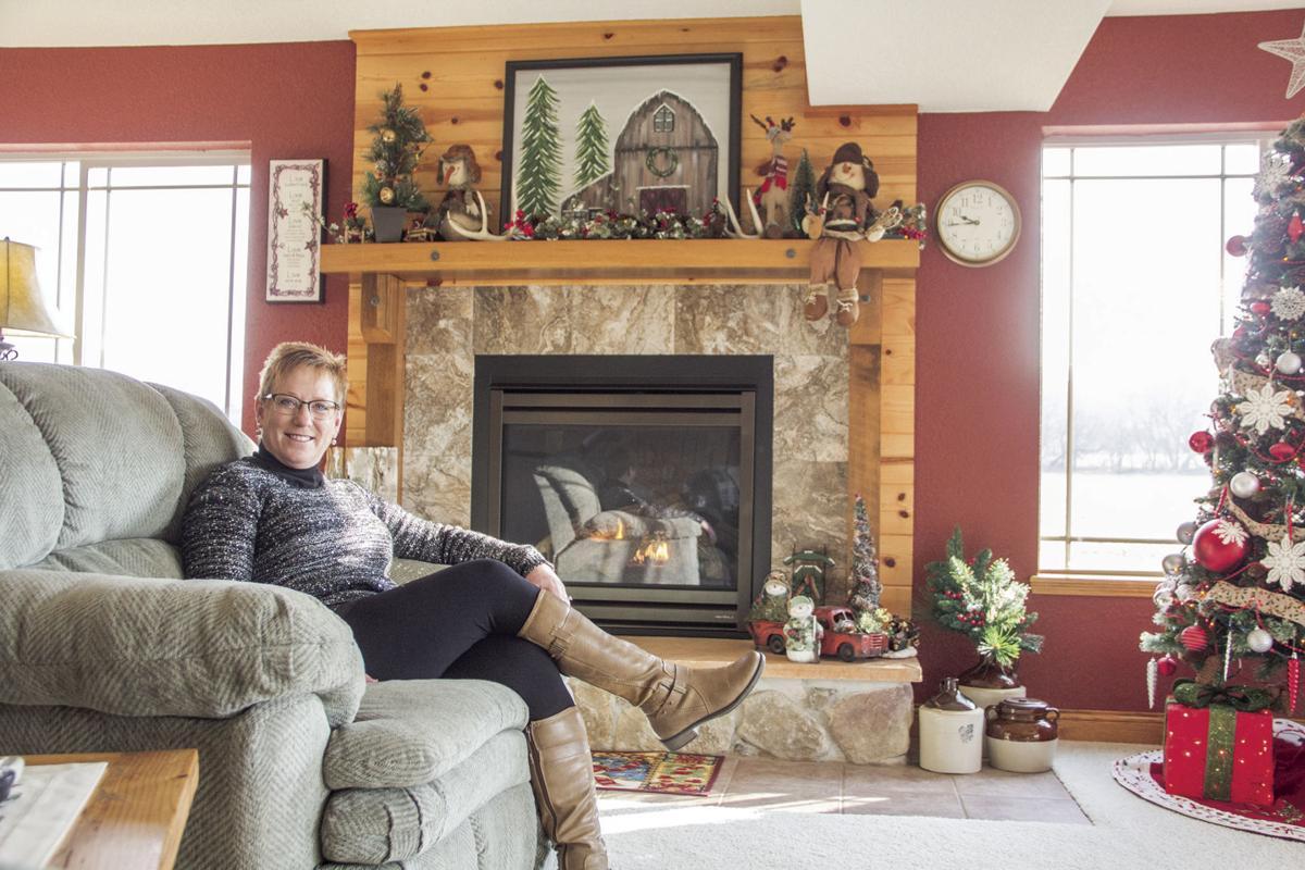 Lisa Gottschalk relaxes in front