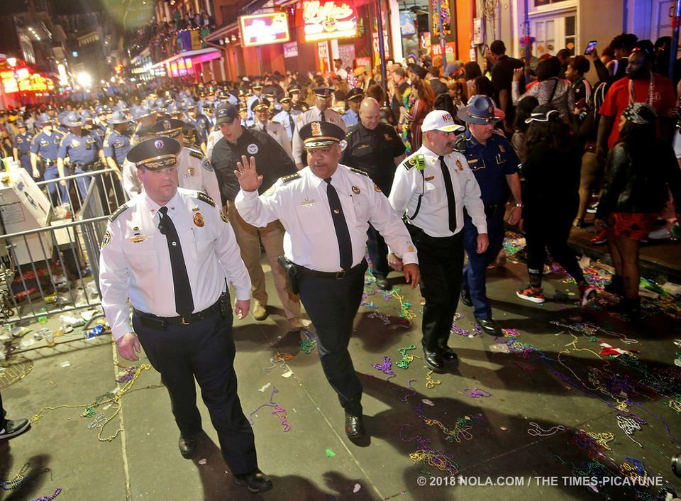 Bourbon Street sweep marks end of Mardi Gras