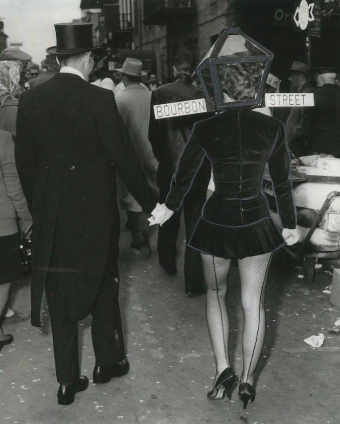 10 vintage photos of Mardi Gras on Bourbon Street