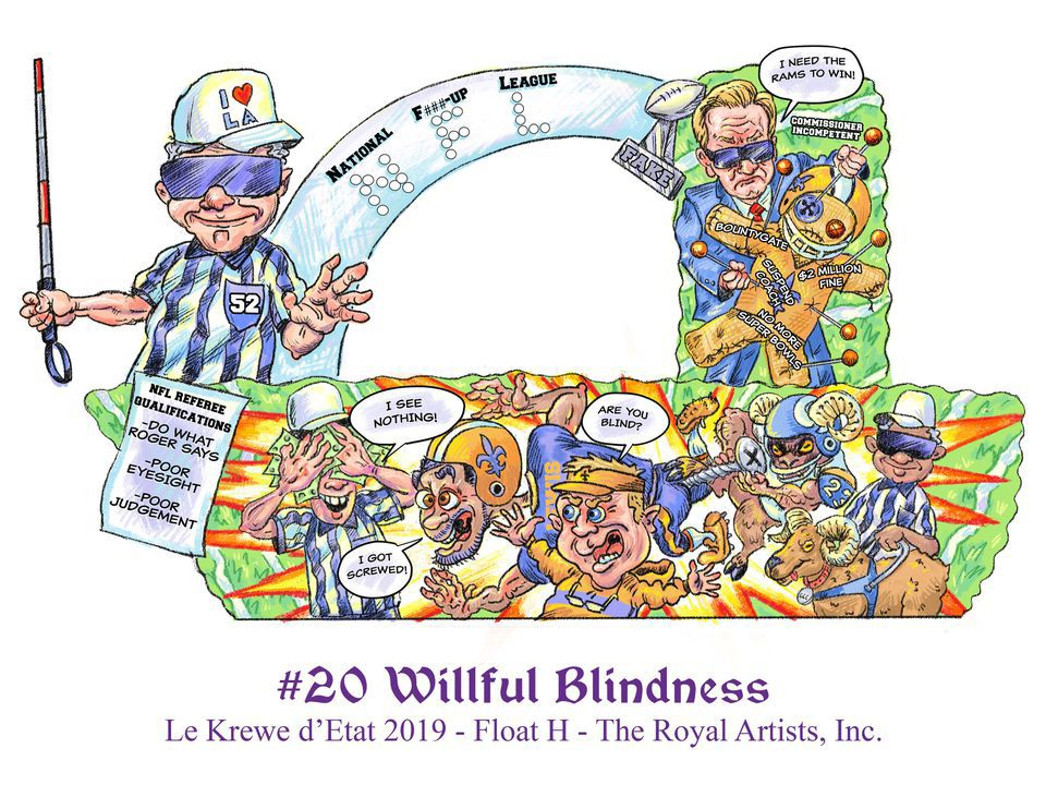 Krewe d'Etat to lampoon NOLA No-Call with Willful Blindness float