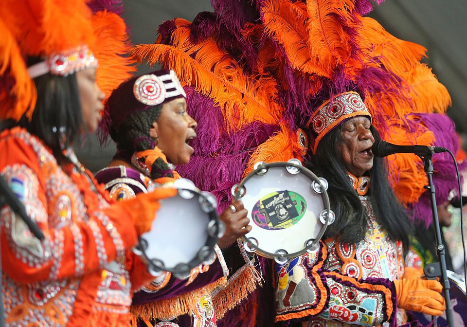 Attend the wedding of a Mardi Gras Indian Big Chief and Queen on Tuesday