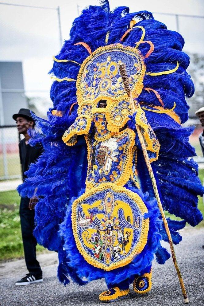 Algiers principal began masking as a Mardi Gras Indian 50 years ago