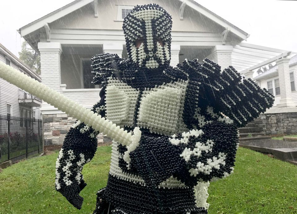 Meet The Bead Man: He makes football jerseys and suits of armor from throws