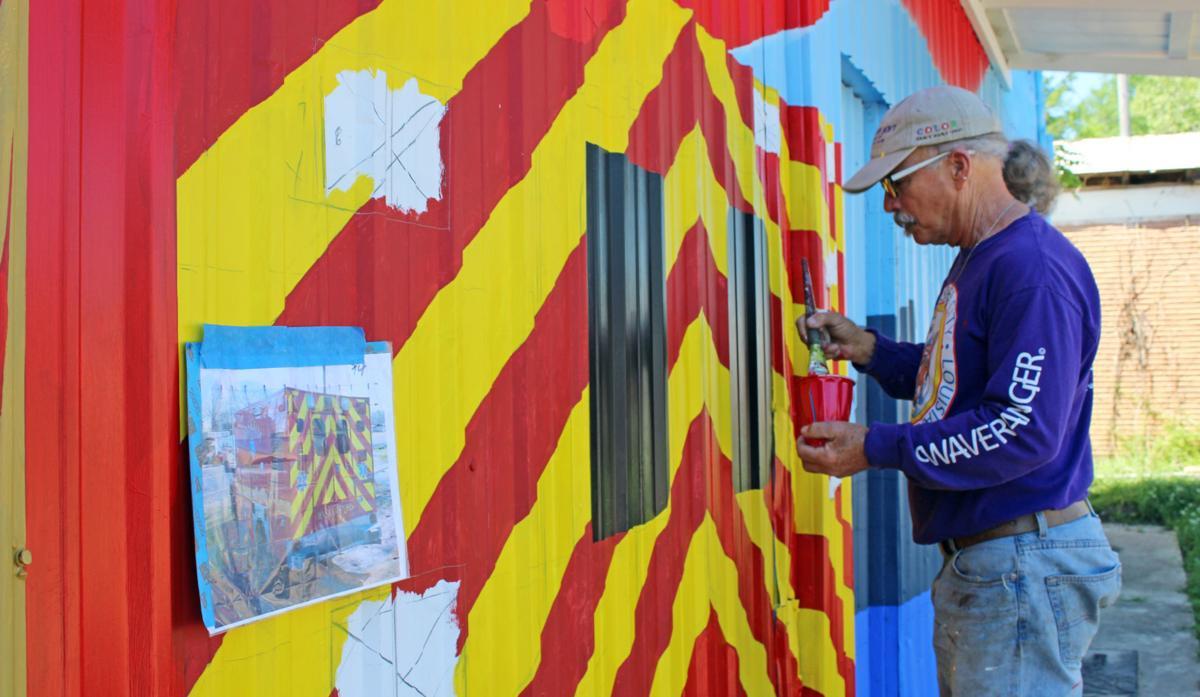 Patriotic mural welcomes visitors to Waskom