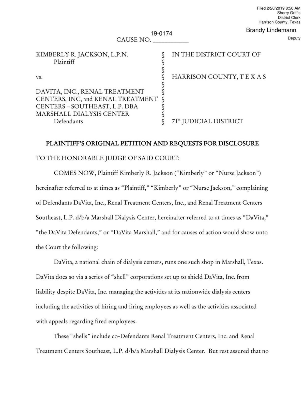 Licensed nurse fired by 'fraud' nurse files suit against