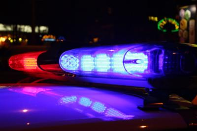 Emergency lights at night