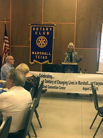 Marshall Rotary Club hears from Gail Beil